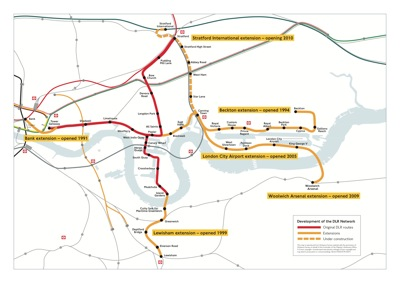 London Light Rail Map.Docklands Light Railway Charing Cross Jubilee And The Case For