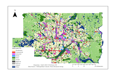 Twin Cities Regional Land Use Map