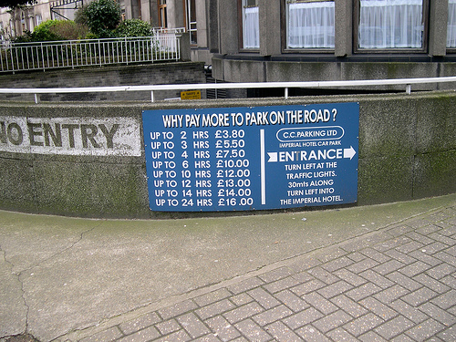 Why pay more to park on the road