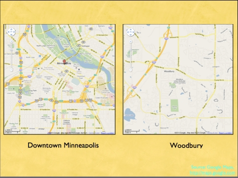 Minneapolis and Woodbury