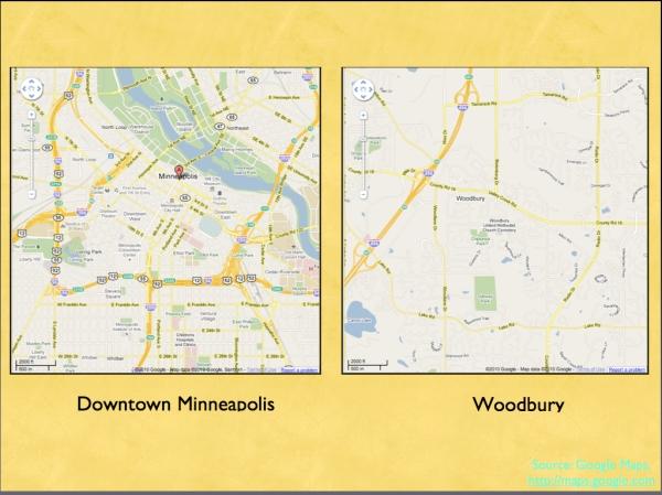 Minneapolis and Woodbury