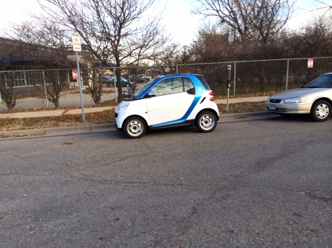 The Car2Go vehicle used for this review