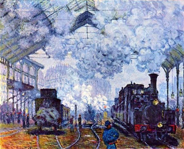 Claude Monet - Gare Saint Lazare (1877)