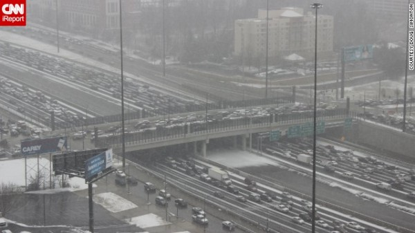 Ice in Atlanta, image via CNN.com
