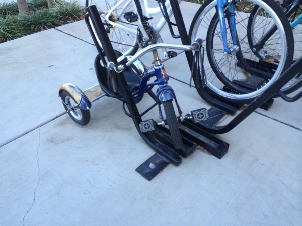 Even the Trikes are under lock and key in Davis