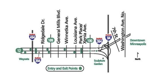 I-394 MnPass Map