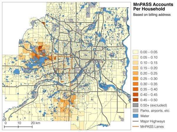MnPASS Accounts per Household