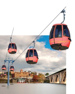 The Georgetown Gondola http://dc.urbanturf.com/articles/blog/the_georgetown_gondola_gets_closer_to_reality/8064