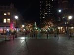 A nice plaza facing an historic building.