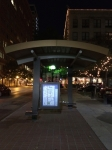 Bus stop in Downtown Fort Worth.