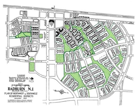 Plan of Radburn, New Jersey