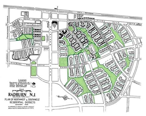 Plan of Radburn, New Jersey