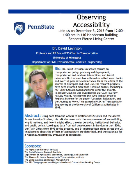 Flyer for my Penn State visit