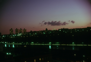 Looking from Apartment on Major Deegan Expressway west across Manhattan