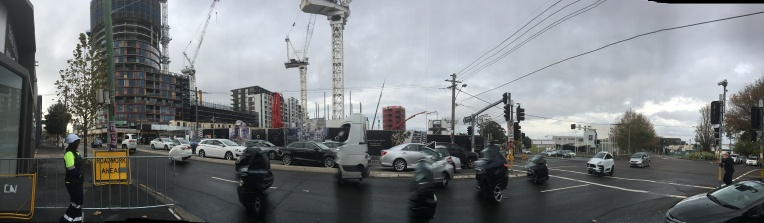 A panorama of the development near Green Square in Sydney