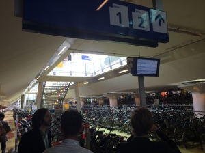 Bicycle parking at Train Station in Houton, Netherlands