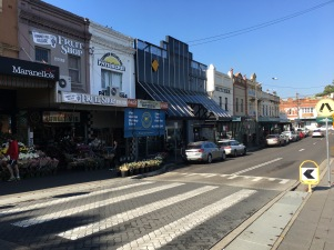 A more supportive pedestrian shopping street in Summer Hill, with a pedestrian crossing table.