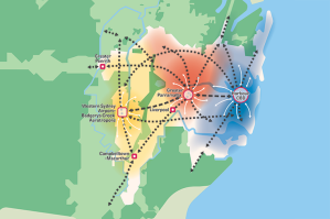 Three city plan from Greater Sydney Commission. Source: https://www.greater.sydney/map-room