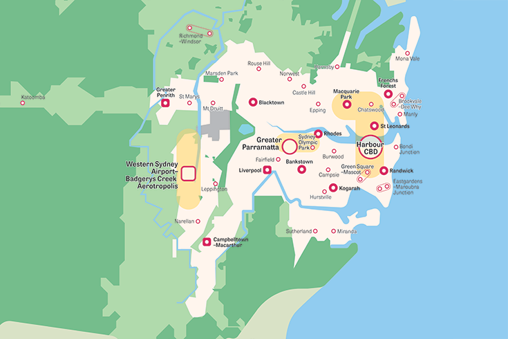 Activity Centers in Sydney from Greater Sydney Committee