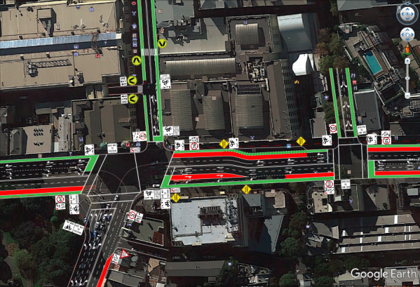 Satellite Image of Improvement of Broadway - City Road Intersection