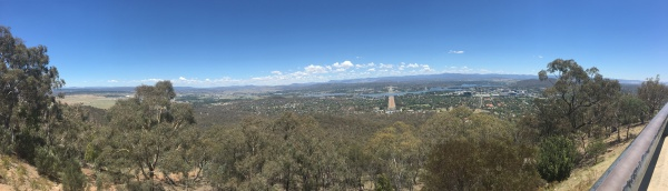 View of Canberra from atop Mount Ainslie