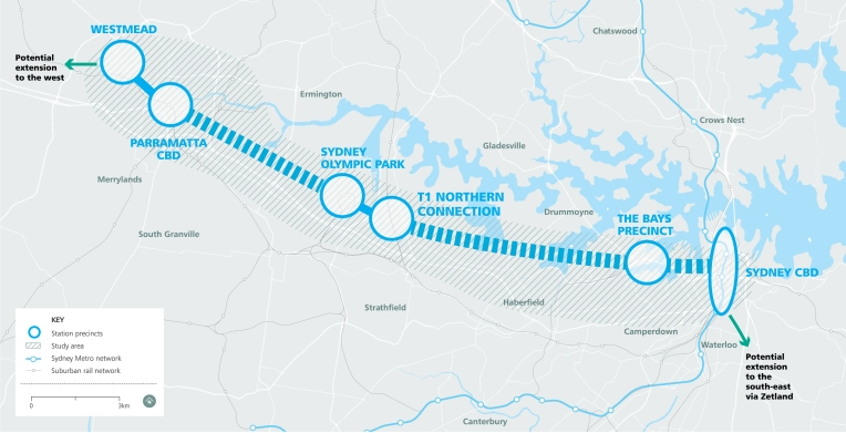 Sydney Metro West map (2018-03) https://www.sydneymetro.info/west/project-overview