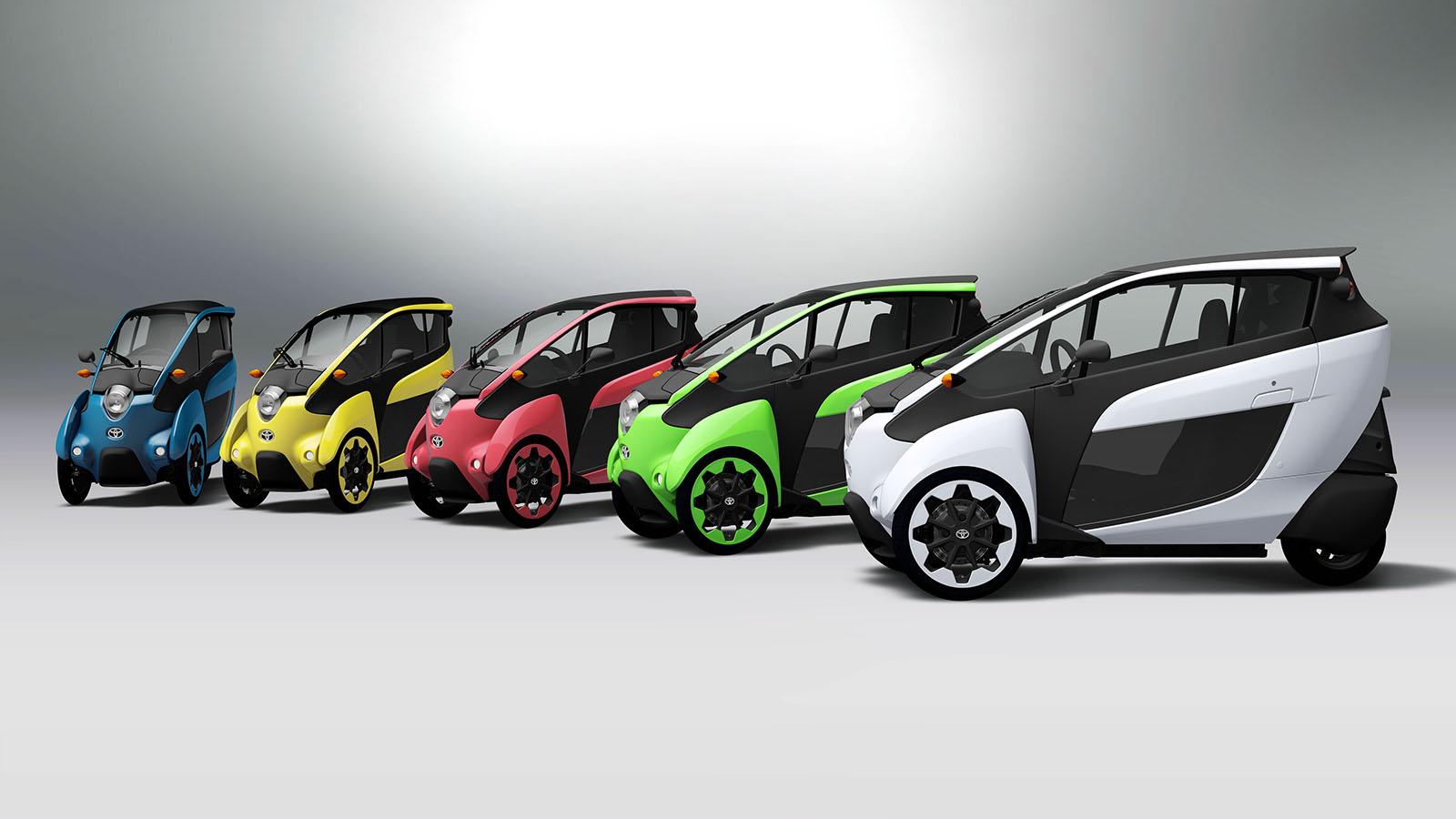 Toyota iRoad one-passenger concept cars, image courtesy Toyota.