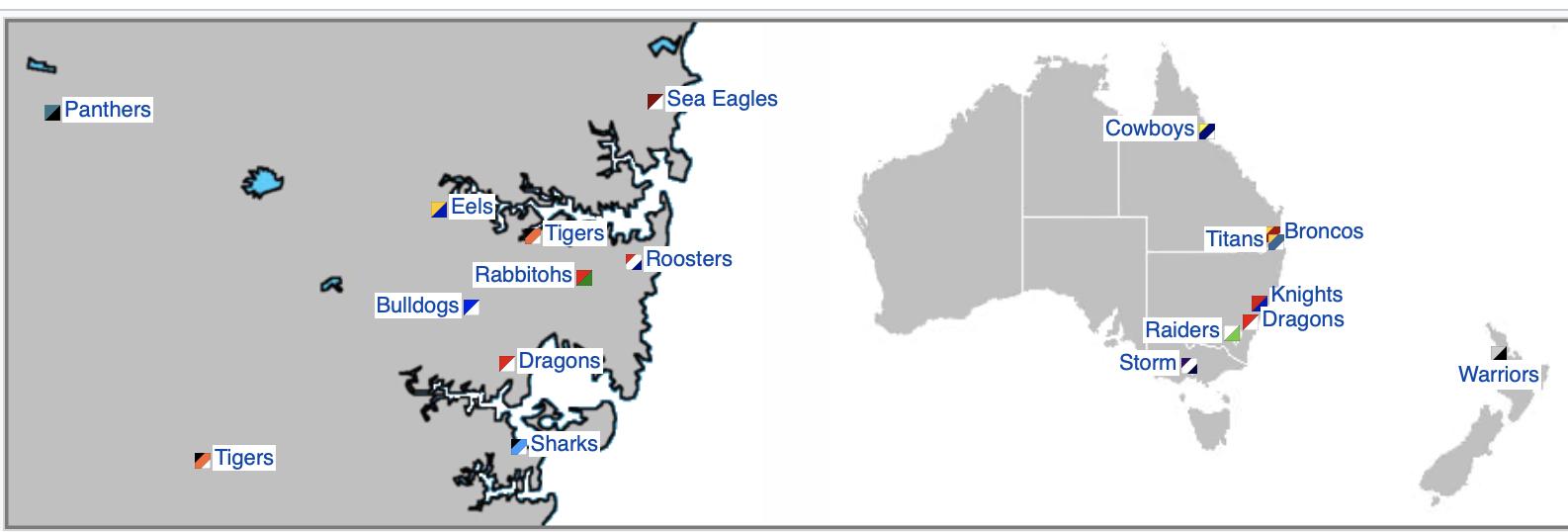 NRL Teams (via Wikipedia)