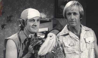 John Cornell and Paul Hogan, mates