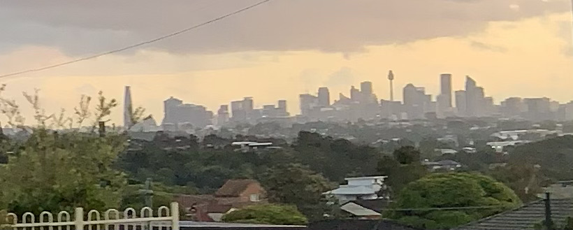View of Sydney in the distance